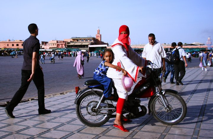 Moped in Marrakech