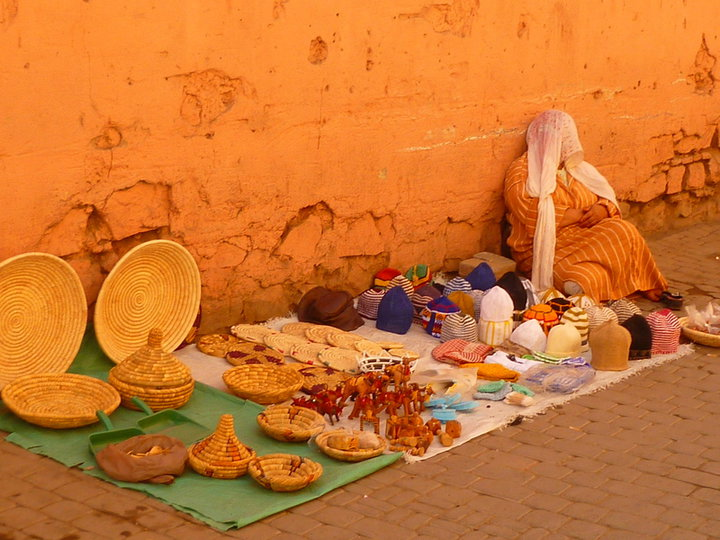 street seller in Marrakech