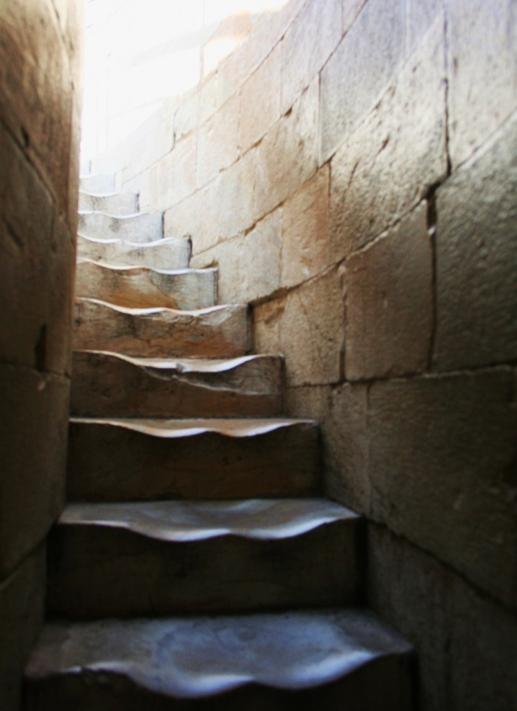 Stairway inside the Leaning Tower of Pisa