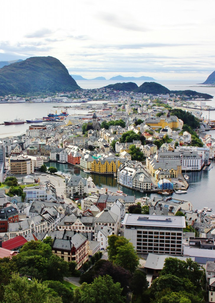 Alesund, panoramic view, norway