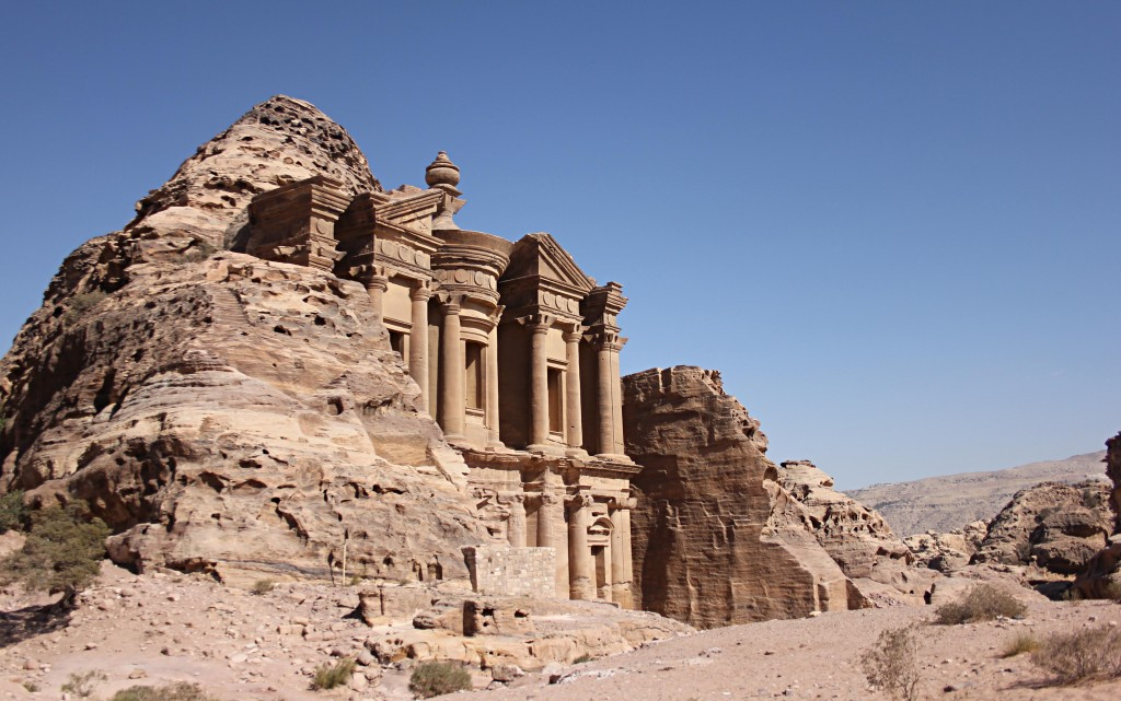 Monastery in Petra, UNESCO World Heritage Site, Seven World of the World