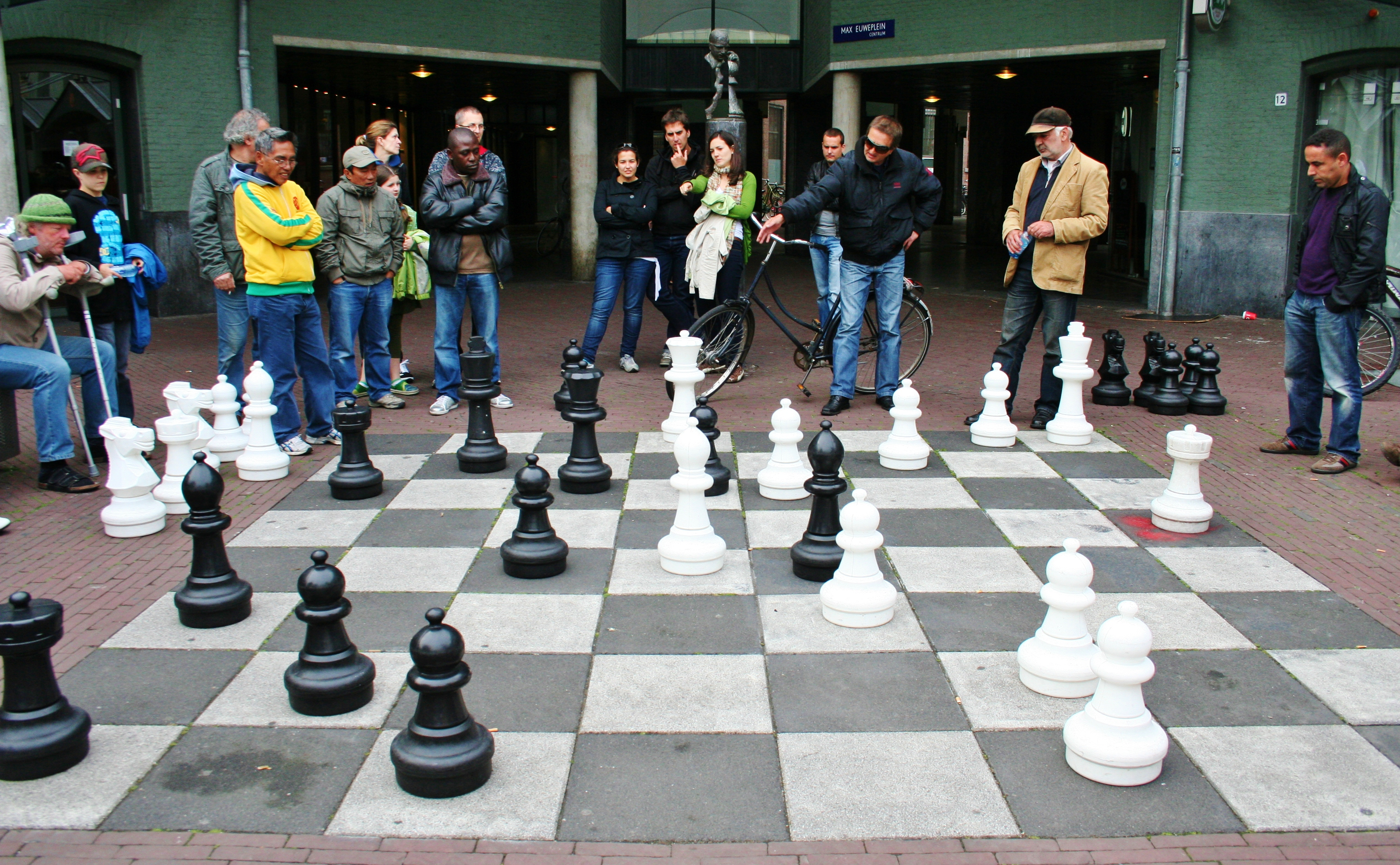 Chess square in Amsterdam