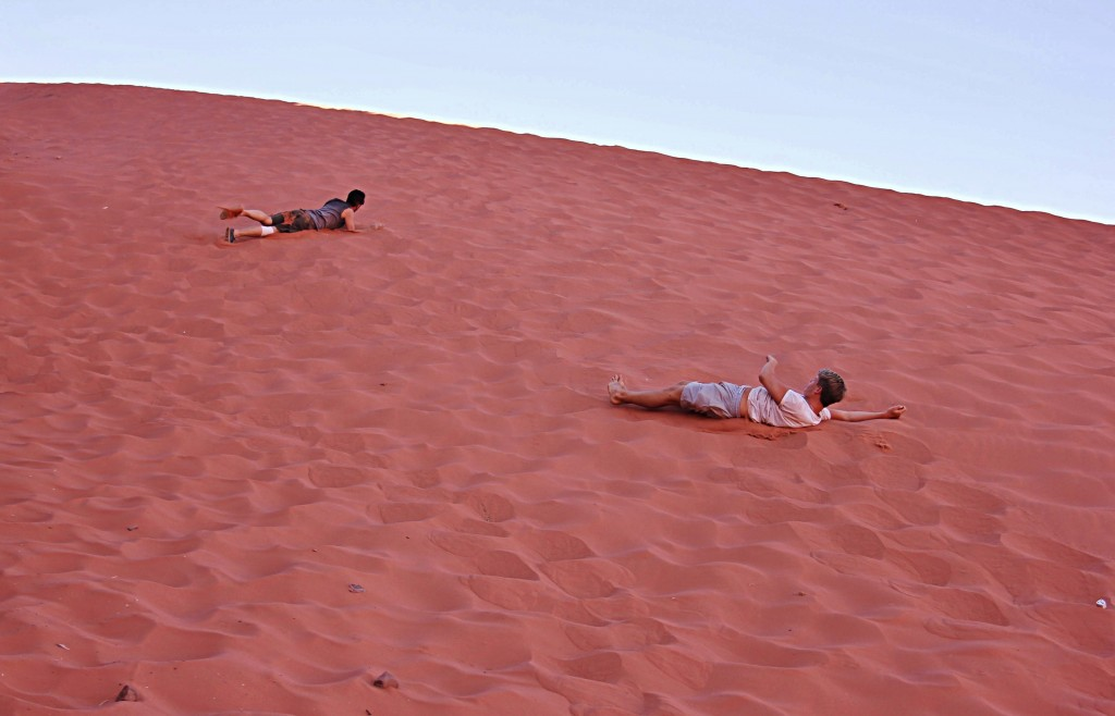 Rolling down sand dunes, Wadi Rum desert, jeep safari, 4x4, explore, UNESCO World Heritage Site, D H Lawrence,