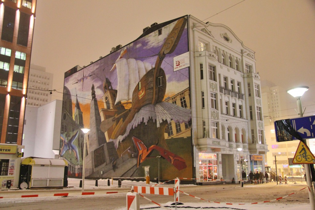 Biggest street art in lodz, poland. graffiti, Piotrkowska