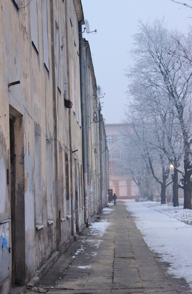 Lodz, winter, poland
