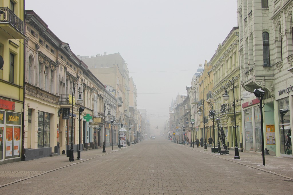 Lodz Poland  city photos gallery : Piotrkowska Street, Lodz, Poland, main shopping street, long