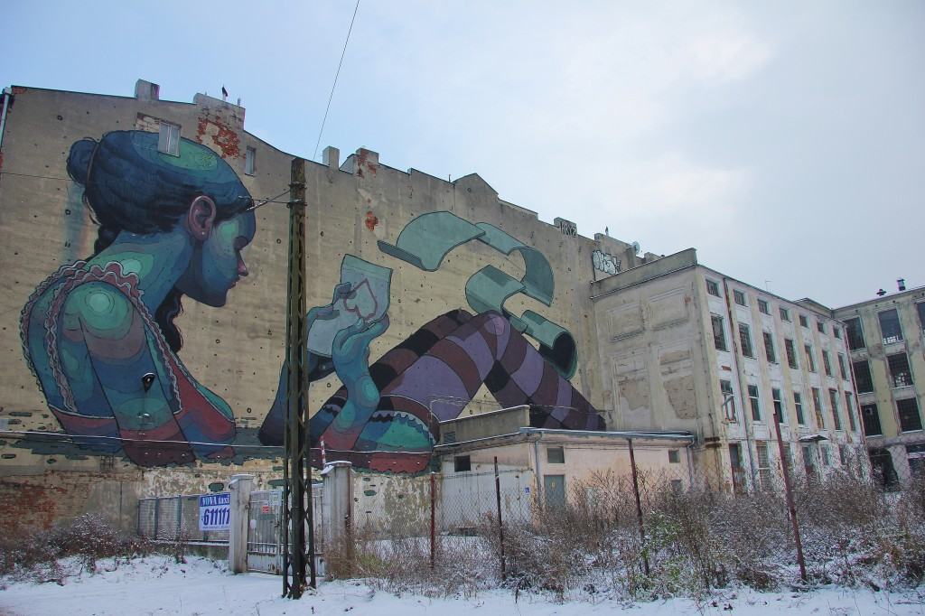 Street art, Lodz, Poland, graffiti, abandoned buildings