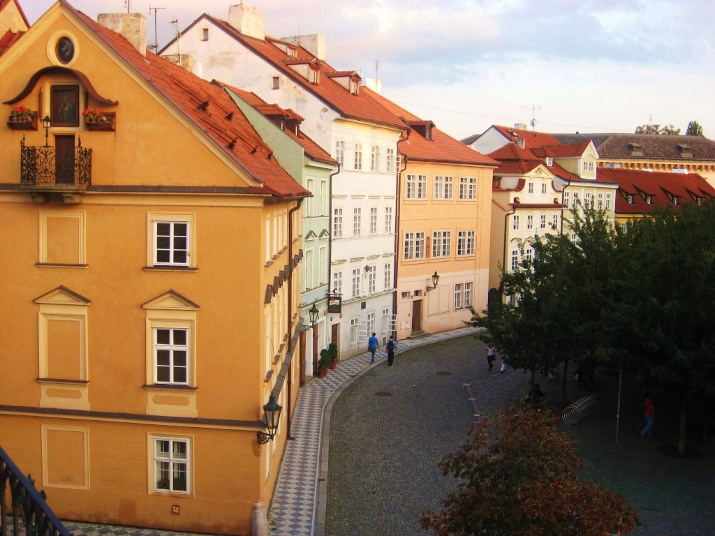 colourful houses in prague, romantic prague, city, beautiful