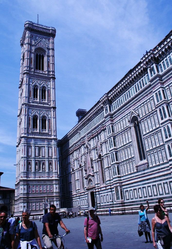Florence, bell tower, Piazza del duomo, architecture