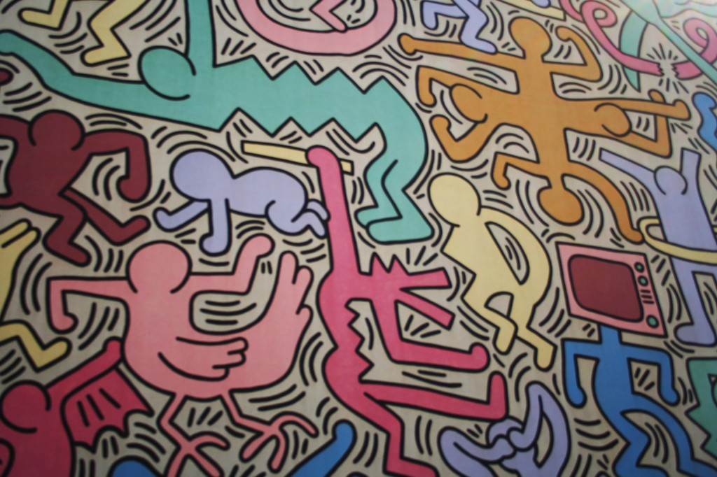 Keith Haring, Wall Mural, street art, Pisa, Graffiti, Italy