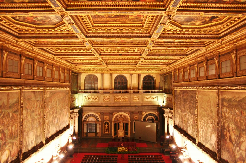 Palazzo Vecchio, florence, italy, ceiling, theatre