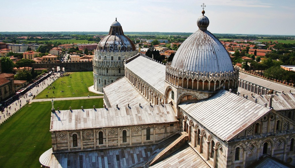 Piazza del Duomo, Pisa, Italy, Panoramic, view, tower
