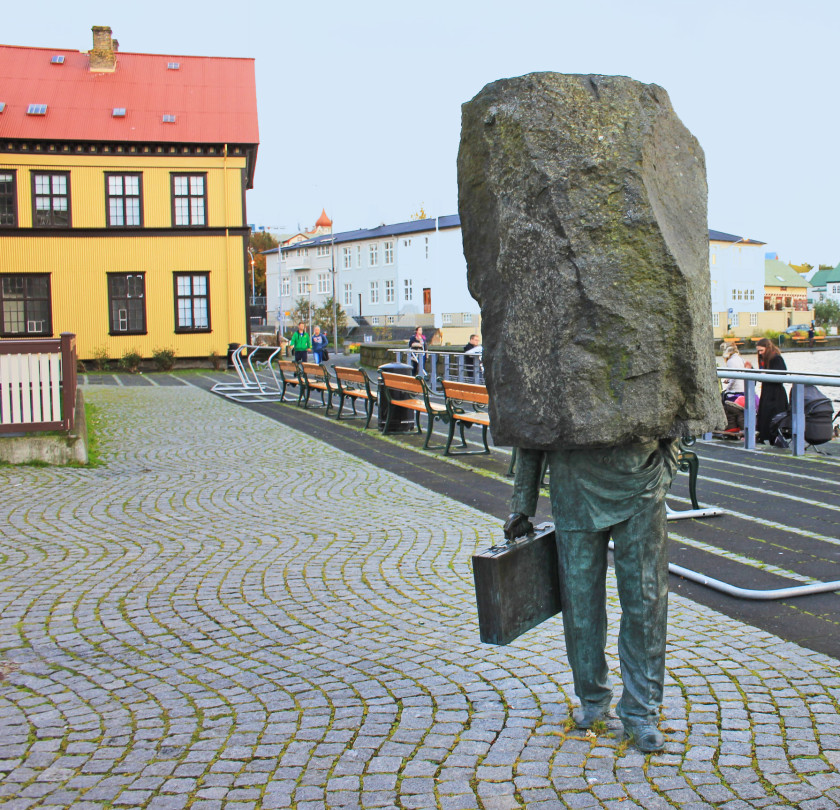 Quirky Sculpture in Reykjavik,
