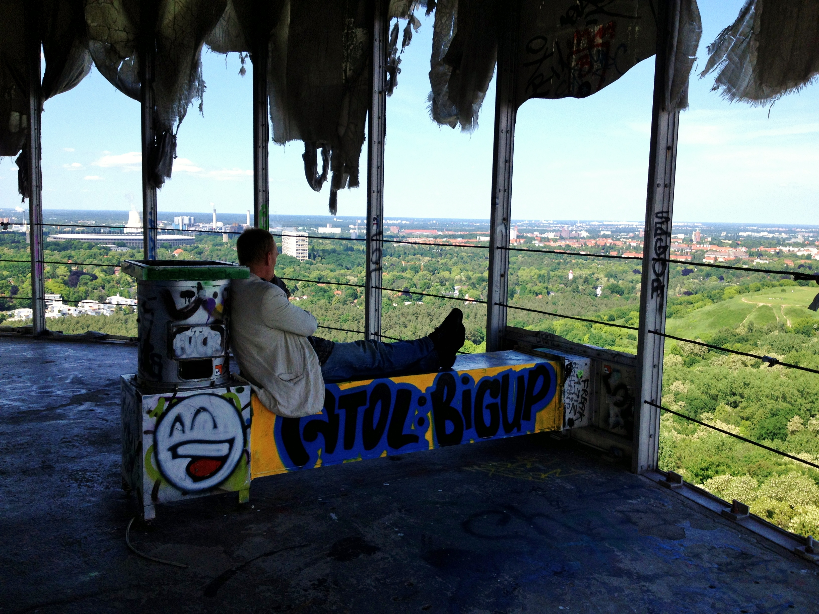 Teufelsberg spy station, view of Berlin