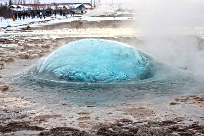 On the Golden Circle tour in Iceland you'll see the power of Stokkur Geyser