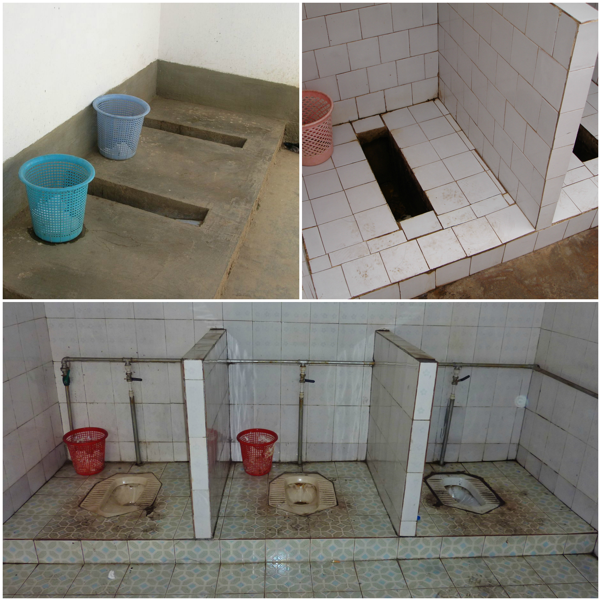 Squatting toilets in China