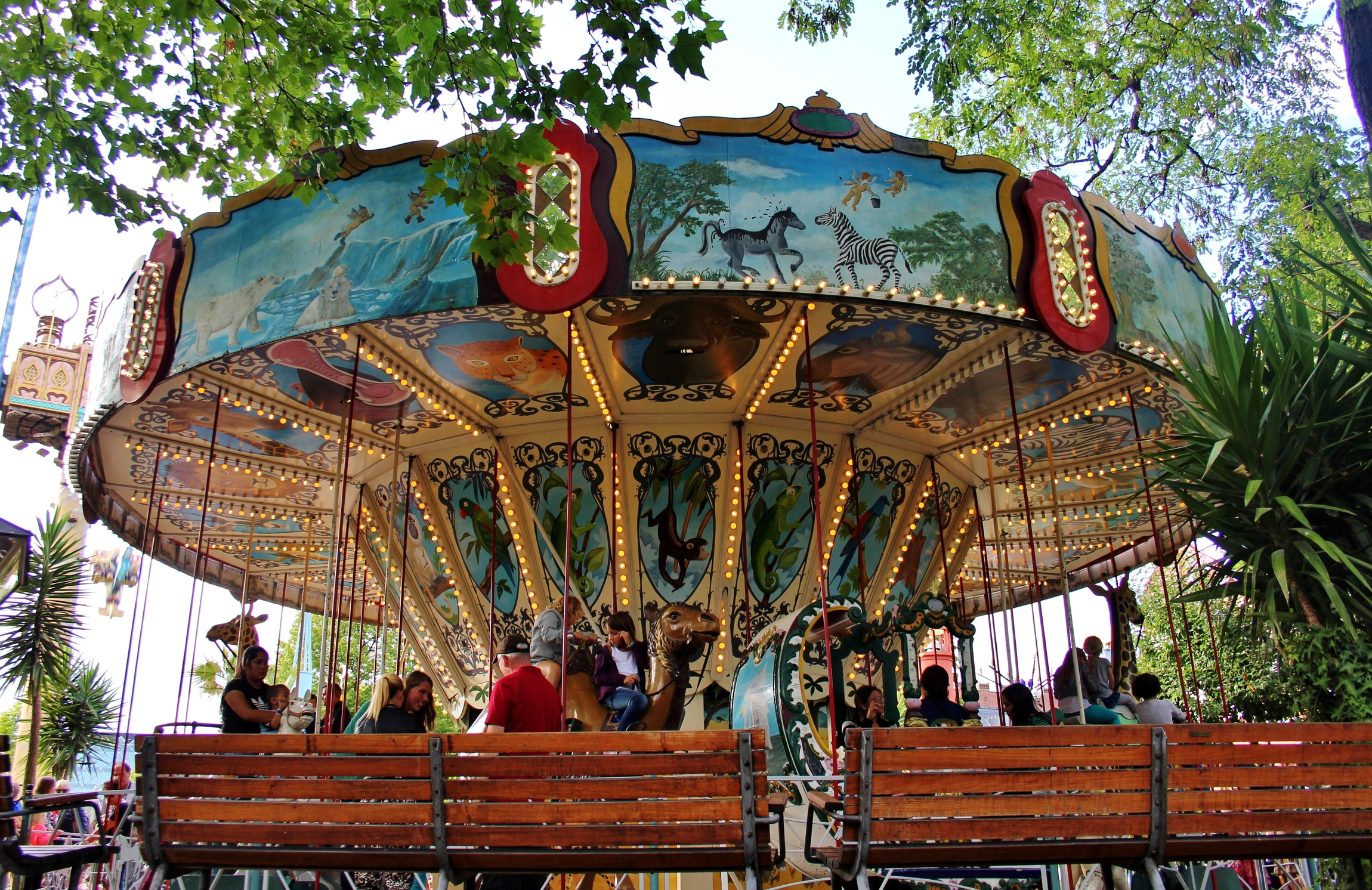 The Carousel at Tivoli amusement park