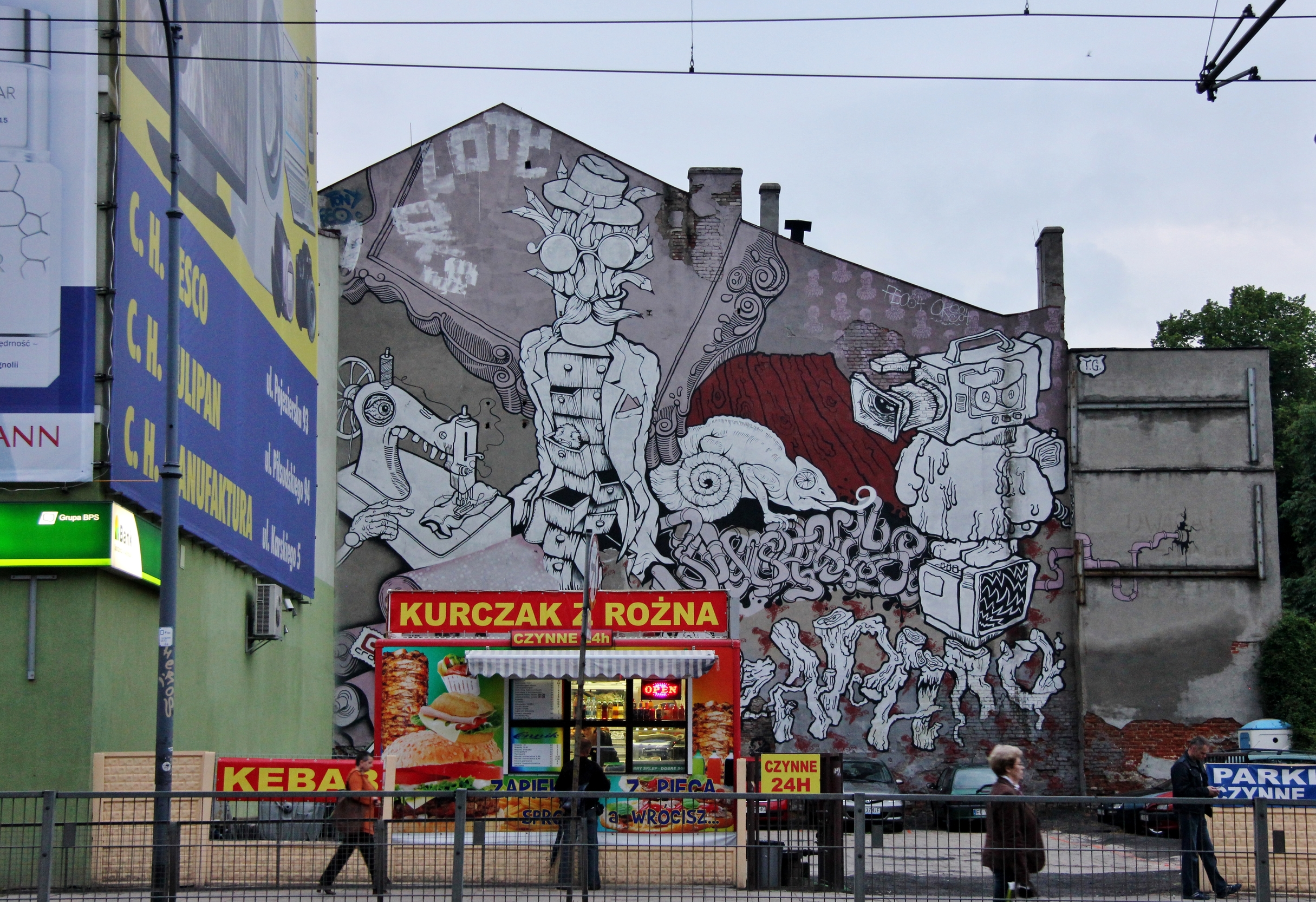Lodz street art, Urban Forms