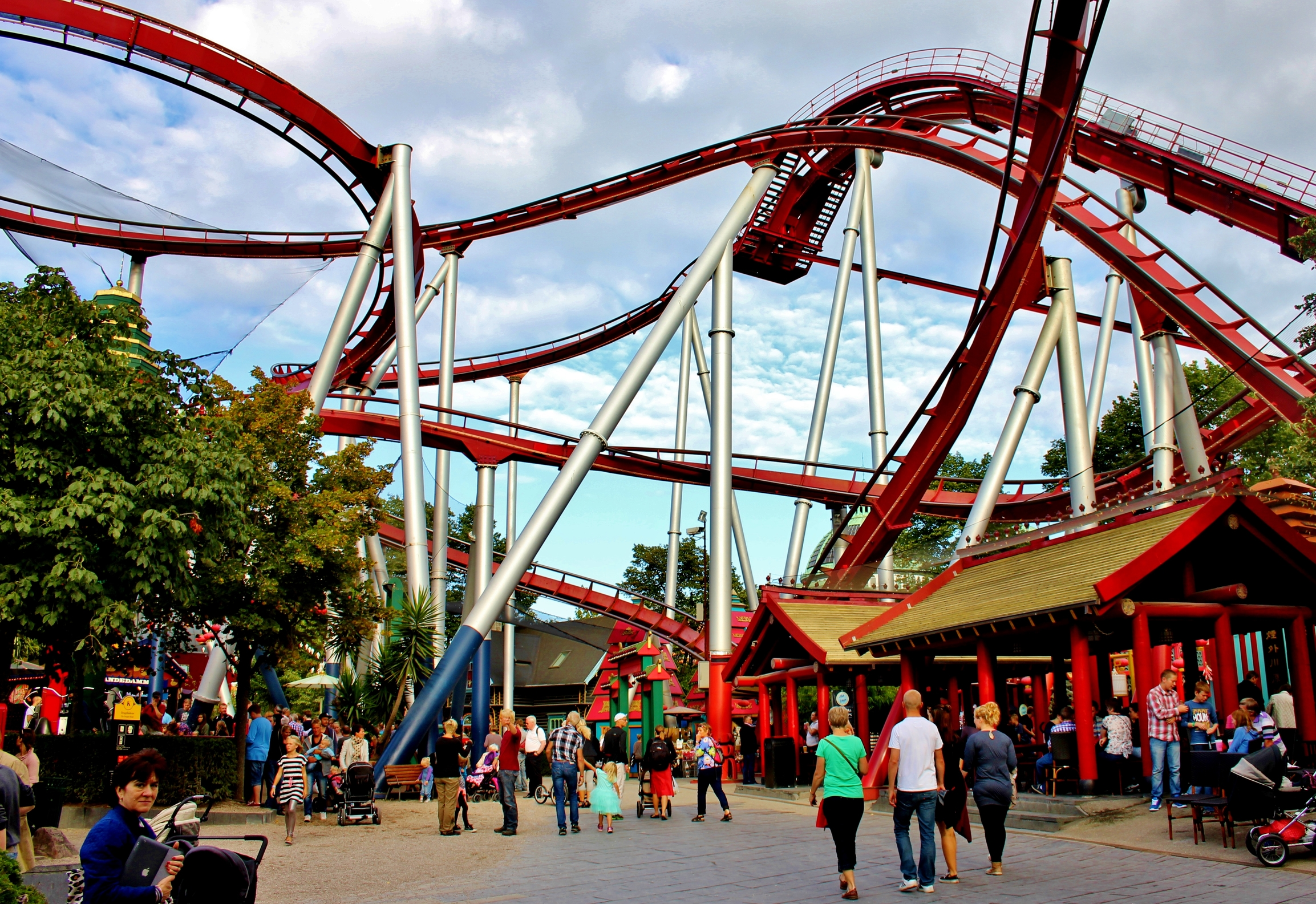 The Daemon roller coaster in Tivoli