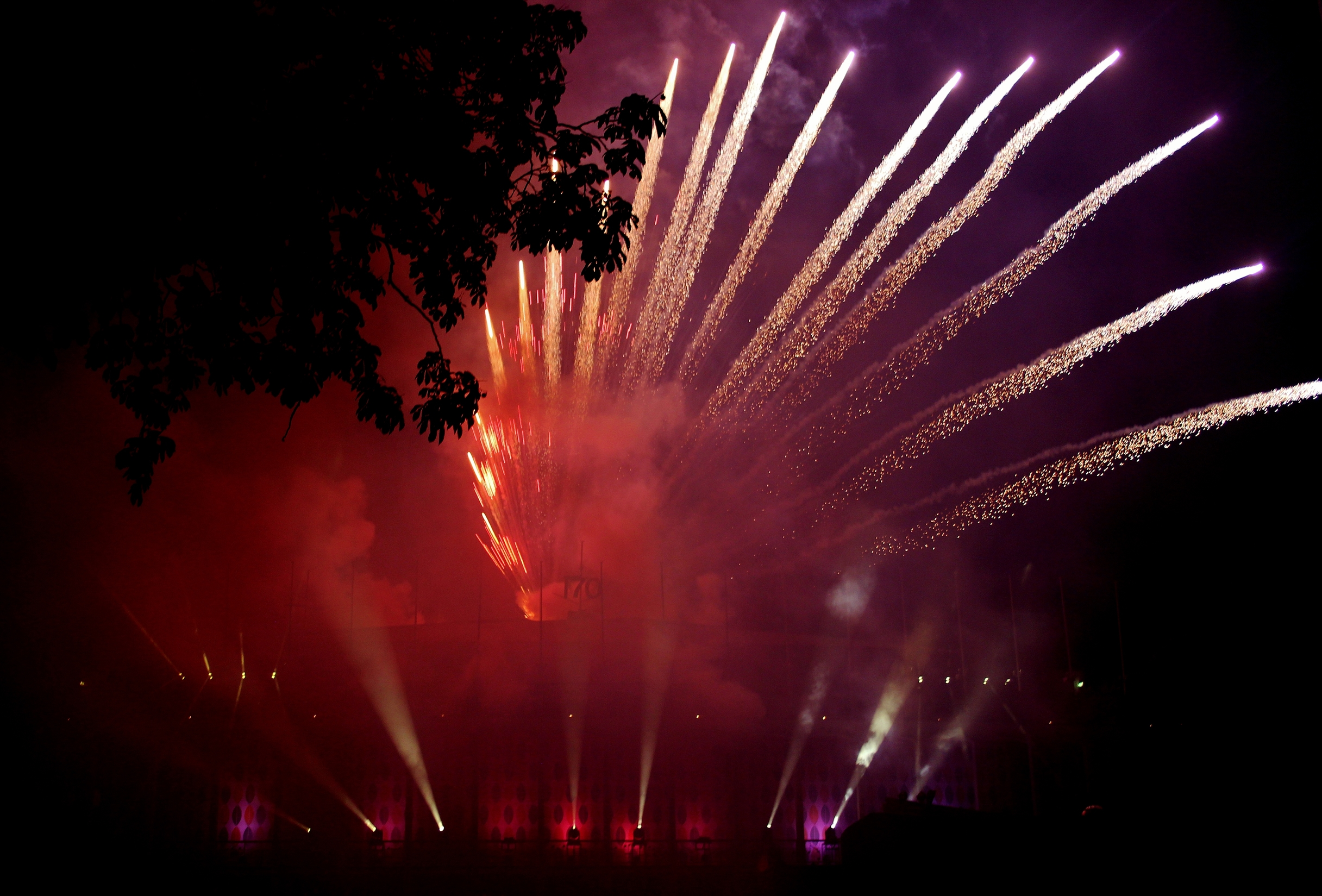 Firework display at Tivoli