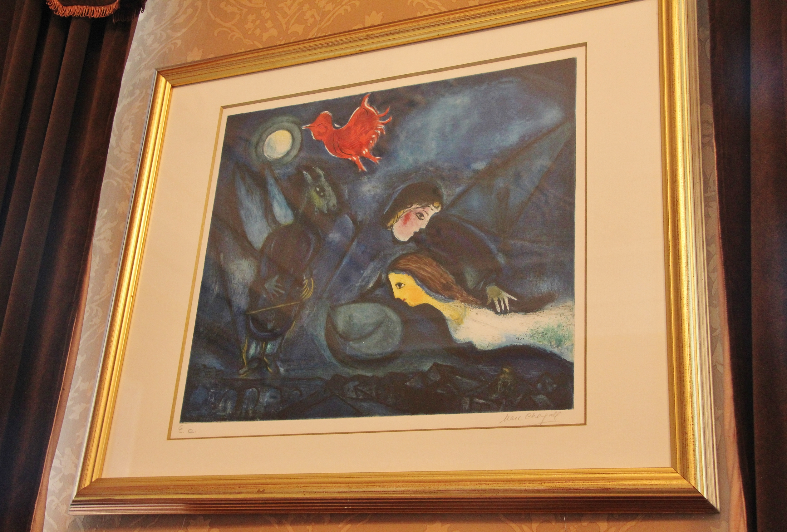Chagall painting inside the History of Lodz Museum