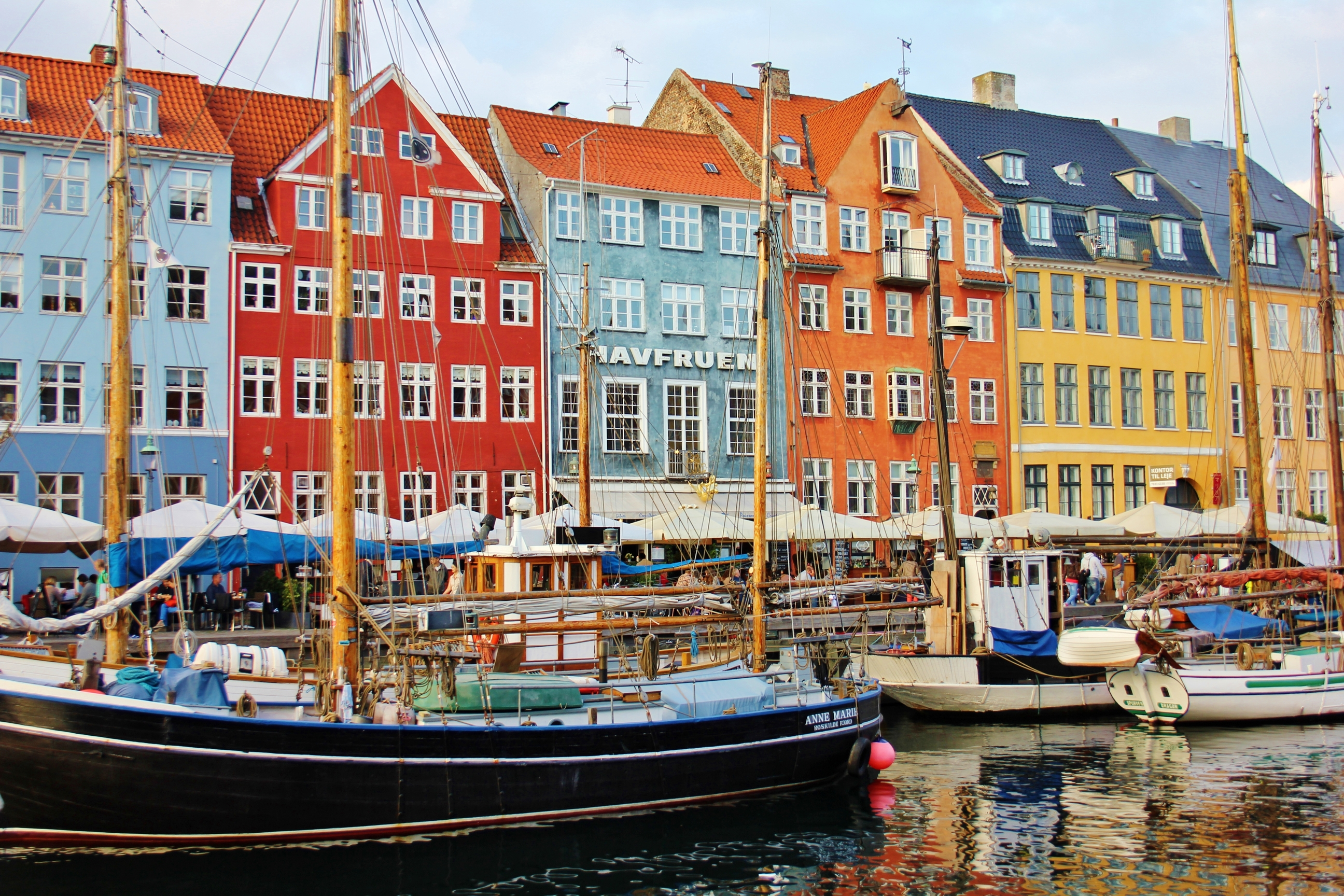 Nyhaven, old harbour in Copenhagen