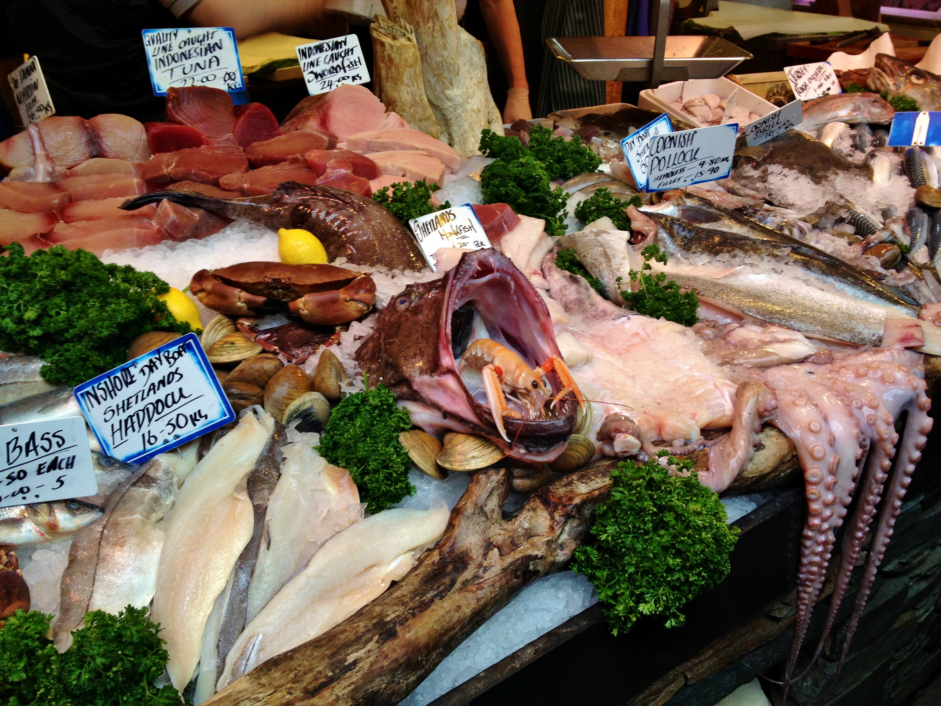 Borough market the king of london s food markets the for Seafood fish market