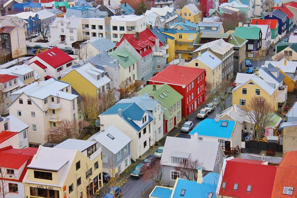 Colourful buildings in Reykjavik