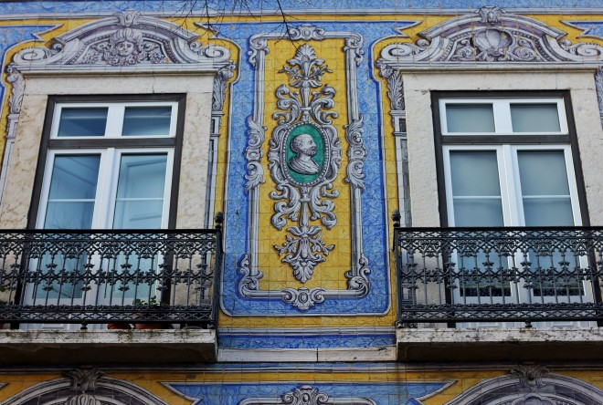 Tiled buildings in Lisbon