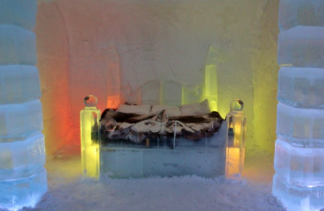 The Honeymoon suite in the ice hotel