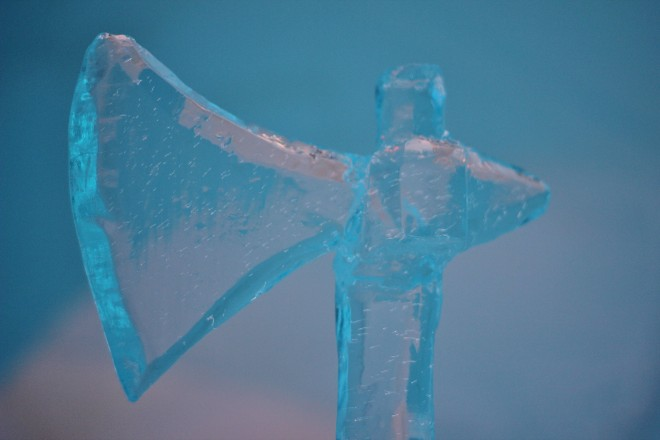 Viking Ice Sculptures at Igloo Hotel 2014