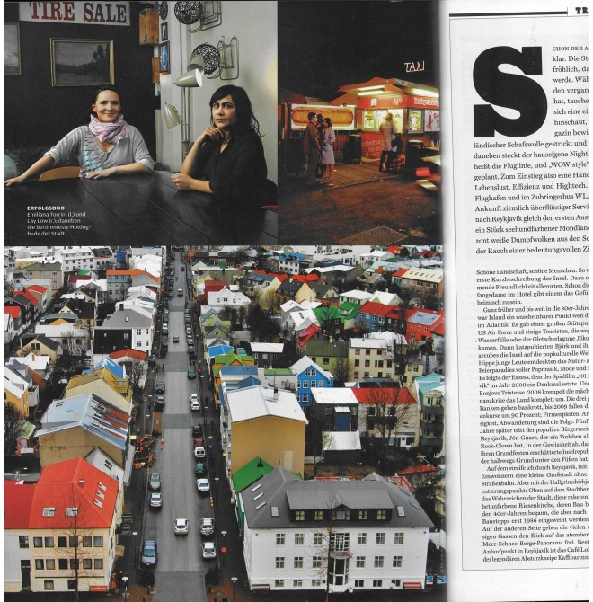 Article on Reykjavik in Rolling Stone Magazine