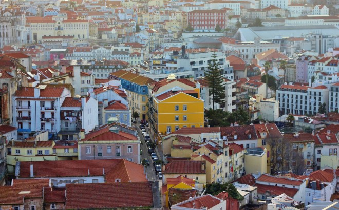 Bird's-eye view of Lisbon