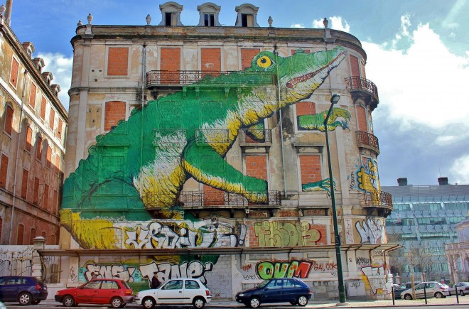 Street art, graffiti, Lisbon