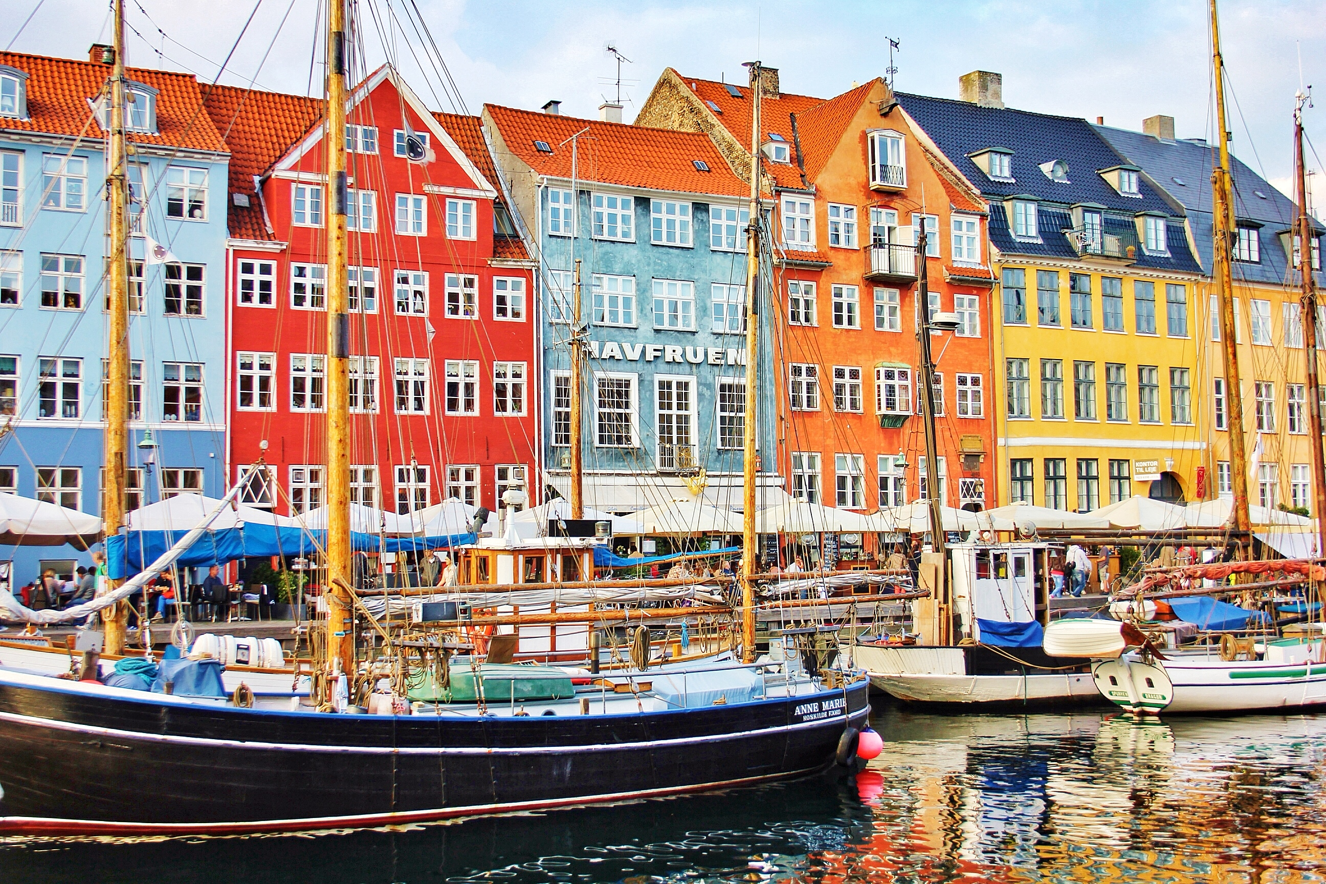 Colouful buildings, Copenhagen