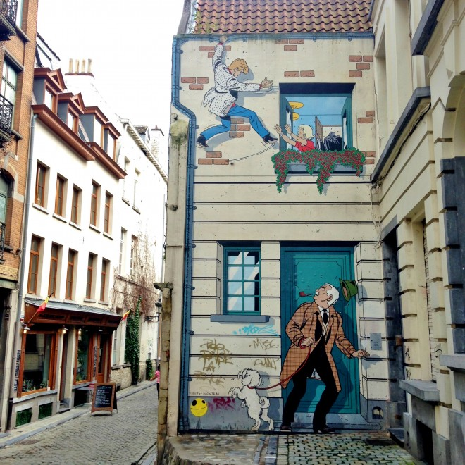 Comic strip art Brussels