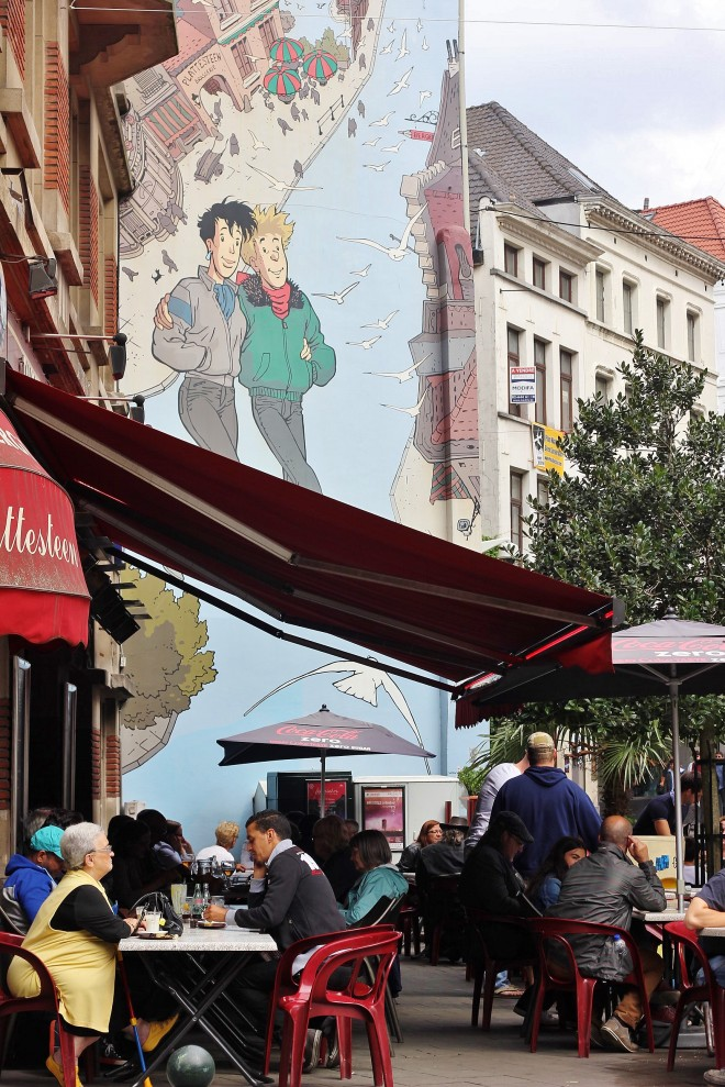 Comic strip wall murals, Brussels