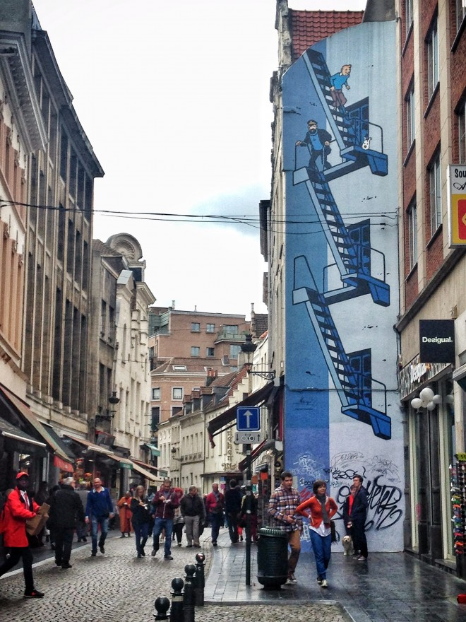 Tin tin street art, Brussels