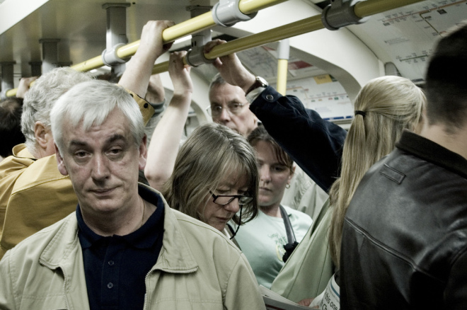 Rush hour, London Underground
