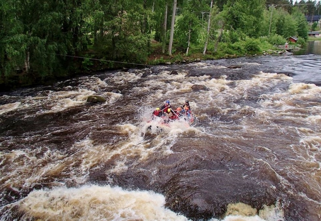 Whitewater rafting, Finland