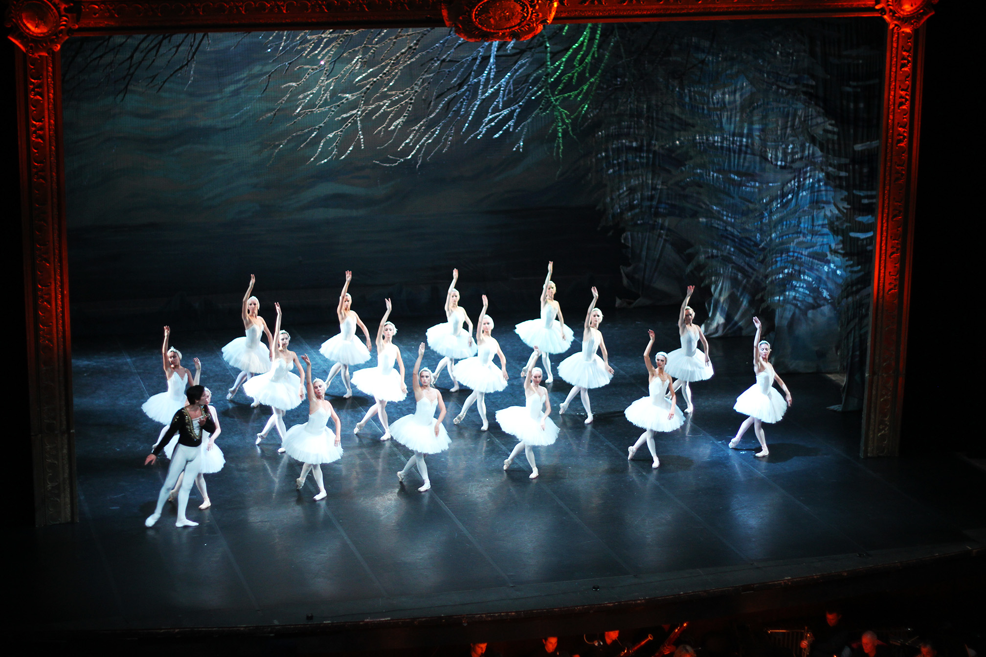 Swan Lake at the ballet in St Petersburg