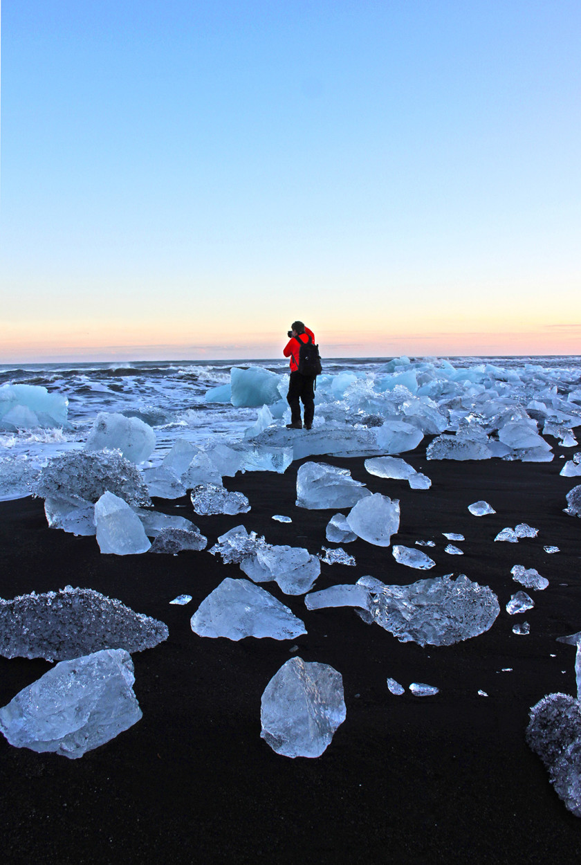 Crystal beach, Iceland
