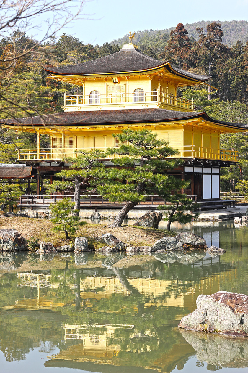 Golden pavilion temple, Kyoto