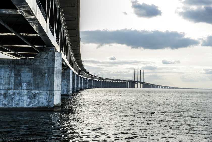 Cross the Oresund Bridge between Copenhagen and Malmo