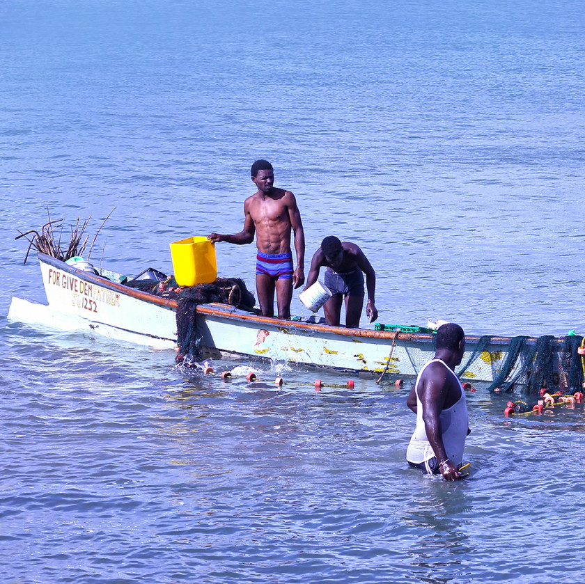 Fishermen in St Lucia