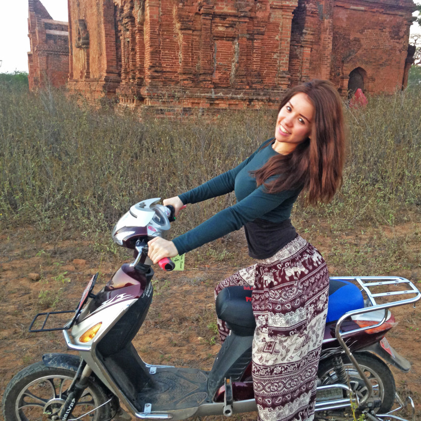Renting a bike in Bagan