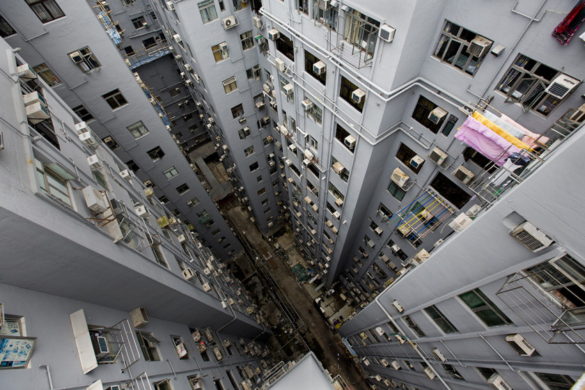 Chungking Mansions in Hong Kong