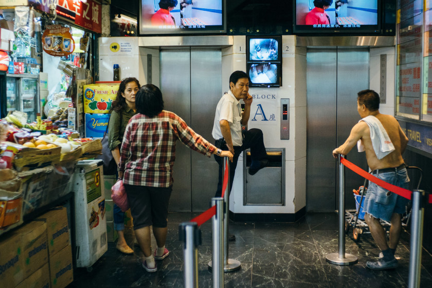 Inside Chungking Mansions, also known as the Ghetto at the centre of the world'.