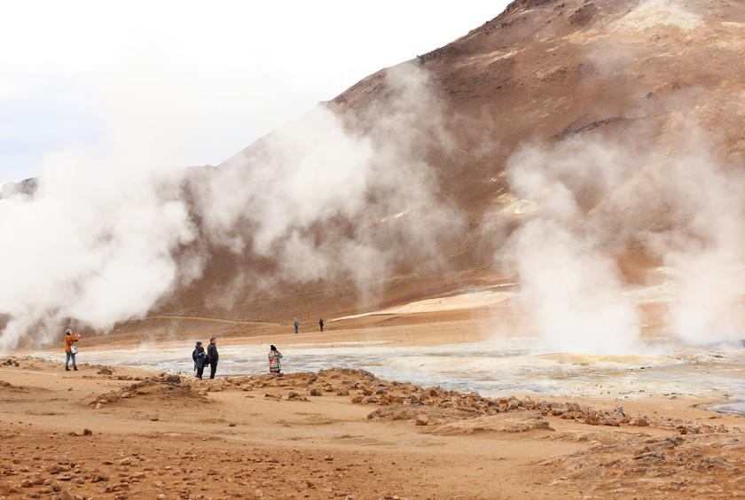 Geothermal area of Hverir in North Iceland