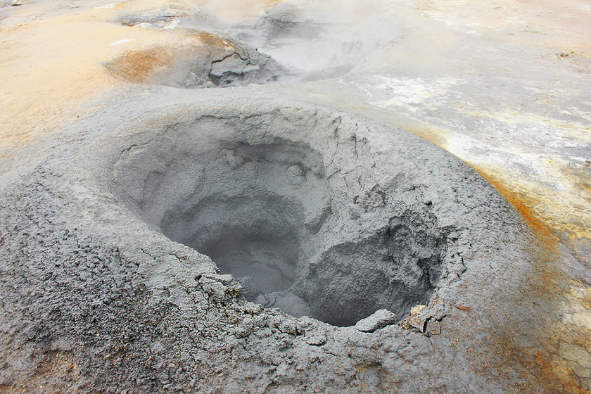 Mud Pools at Hverir in Myvatn, North Iceland